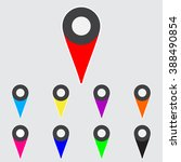 color map pointer icons on gray ...   Shutterstock .eps vector #388490854