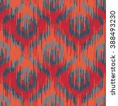 moroccan faux tribal fabric... | Shutterstock .eps vector #388493230