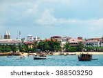 beach in the stone town on the... | Shutterstock . vector #388503250