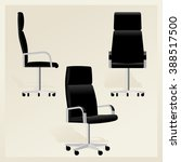 black leather office chair for...   Shutterstock .eps vector #388517500