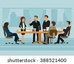 business people meeting... | Shutterstock .eps vector #388521400