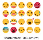 Set Of Cute Emoticons Isolated...