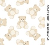 Teddy Bear Seamless Isolated O...
