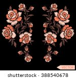 Flowers Neck Line Embroidery...