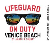 sunglasses lifeguard beach...   Shutterstock .eps vector #388552513