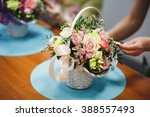 floral workshop   florist makes ... | Shutterstock . vector #388557493