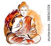 Buddha. Hand Drawn Grunge Styl...