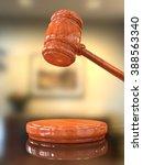 judge's gavel up in judge's... | Shutterstock . vector #388563340