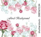 vector floral background with... | Shutterstock .eps vector #388565134