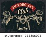 biker driving a motorcycle... | Shutterstock .eps vector #388566076