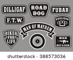 biker patches | Shutterstock .eps vector #388573036