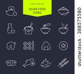 asian food light vector icons  | Shutterstock .eps vector #388575580