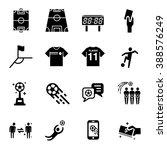 soccer vector icon set  | Shutterstock .eps vector #388576249
