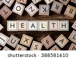 the word of health on building... | Shutterstock . vector #388581610