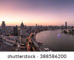 elevated view of shanghai... | Shutterstock . vector #388586200