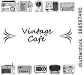 radio card design  radio doodle ... | Shutterstock .eps vector #388587490