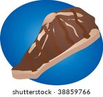 grilled steak  meat dish food...   Shutterstock .eps vector #38859766