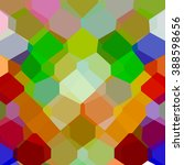 colorful abstract  mosaic... | Shutterstock .eps vector #388598656
