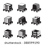 pallets with tiles  granite and ... | Shutterstock .eps vector #388599190