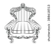 baroque imperial luxury style... | Shutterstock .eps vector #388618513