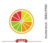 orange icon vector illustration ... | Shutterstock .eps vector #388619980