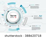 abstract futuristic circuit... | Shutterstock .eps vector #388620718
