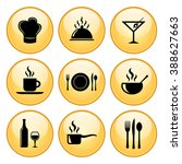 food   restaurant icon set with ... | Shutterstock . vector #388627663