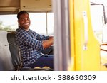 smiling school bus driver... | Shutterstock . vector #388630309