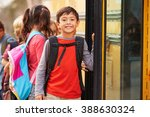 elementary school boy at the... | Shutterstock . vector #388630324