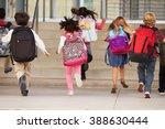 elementary school kids running... | Shutterstock . vector #388630444