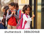 elementary school girl at the... | Shutterstock . vector #388630468