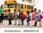 teacher and a group of... | Shutterstock . vector #388630918