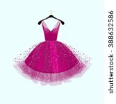 purple party dress.vector... | Shutterstock .eps vector #388632586