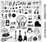 some music doodles | Shutterstock .eps vector #388642708