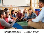 elementary school kids and... | Shutterstock . vector #388645924