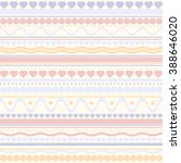 seamless vector hearts and dots ... | Shutterstock .eps vector #388646020