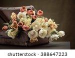 a bunch of beautiful flowers in ... | Shutterstock . vector #388647223