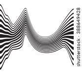 optical art opart striped wavy... | Shutterstock .eps vector #388649428