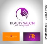 beauty female face logo design... | Shutterstock .eps vector #388654909