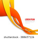 abstract curved lines...   Shutterstock . vector #388657126