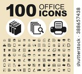 office and work icons. business ... | Shutterstock .eps vector #388657438