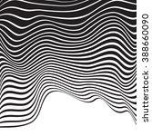 optical art opart striped wavy... | Shutterstock .eps vector #388660090