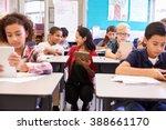 teacher among kids with... | Shutterstock . vector #388661170