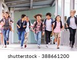 group of elementary school kids ... | Shutterstock . vector #388661200