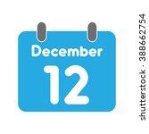 calendar icon flat december 12   Shutterstock .eps vector #388662754