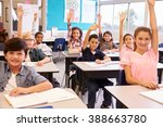 elementary school kids in a... | Shutterstock . vector #388663780
