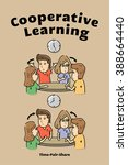 cooperative learning time pair... | Shutterstock .eps vector #388664440