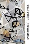 randomly scattered triangles of ... | Shutterstock .eps vector #388664956