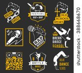 set of breakdance bboy... | Shutterstock .eps vector #388668670