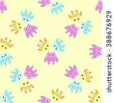 seamless owl pattern pastel ...   Shutterstock .eps vector #388676929